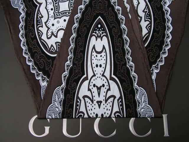 gucci scarf bandana 100 silk 123cm x 42cmfree ebay